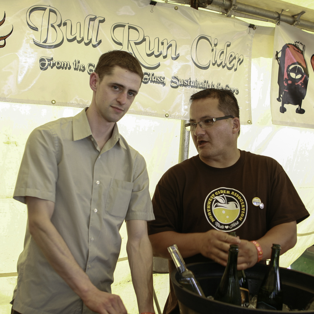 Galen Williams (left) and Pete Mulligan (right) from  Bull Run Cider.